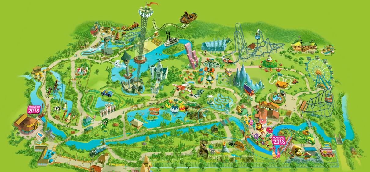 le plan du parc d 39 attractions nigloland. Black Bedroom Furniture Sets. Home Design Ideas